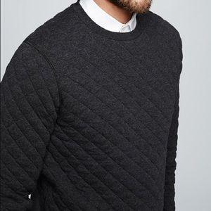 Club Monaco Gray Diamond Quilted Sweatshirt